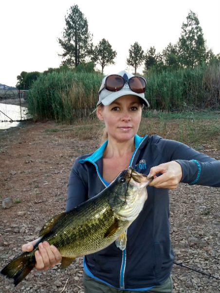 Nice bass at Rietvlei dam, my first real big one