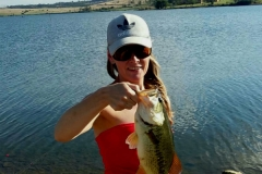 Another healthy bass at Rietvlei dam