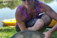 One of the smaller carp we caught