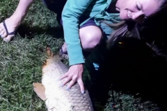 First carp we caught and it was a big one
