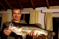 Night fishing always delivers a couple of nice bass