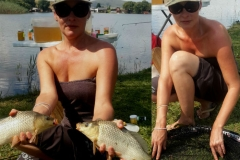 Fishing at Vrede dam, two for the price of one