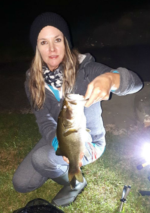 Night fishing again proved productive despite the weeds