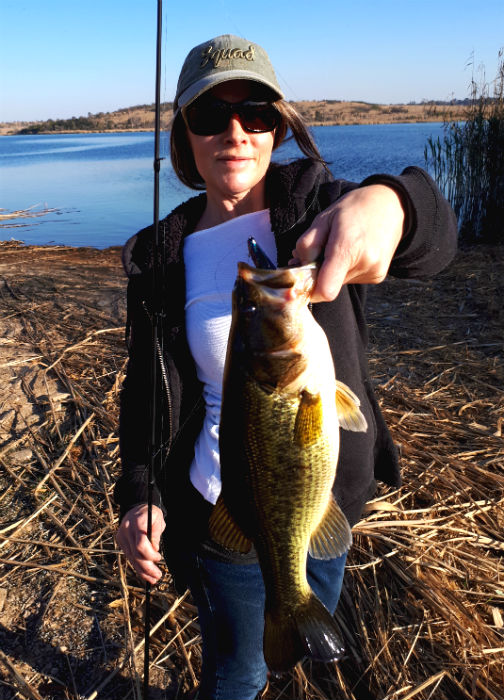 The first bass of the season at Rietvlei Dam