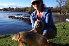 Our biggest catch at Heathbridge was this nice 5kg common carp