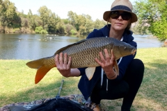 Linky with her biggest carp of the weekend