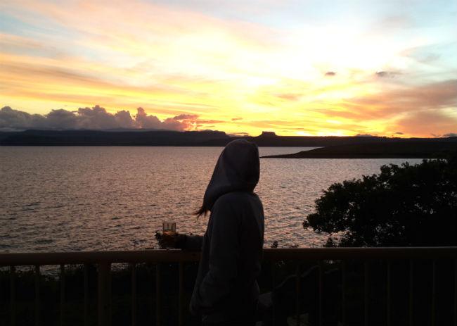 sunset sterkfontein dam