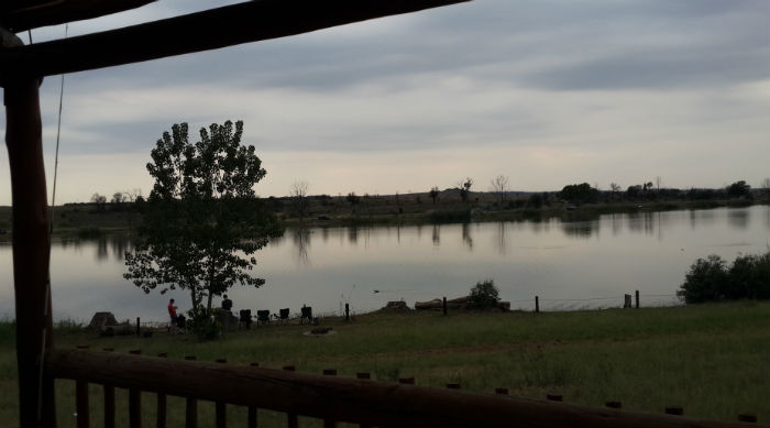 rietvlei dam chalets patio view