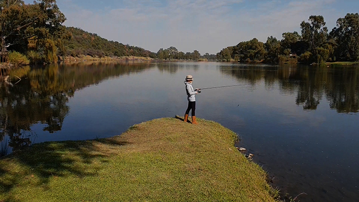 the dell vaal river bass fishing