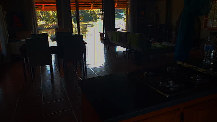 the dell vaal river visarend view from kitchen