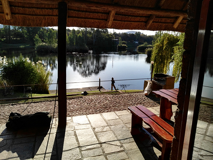 the dell vaal river visarend view from patio
