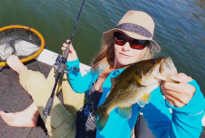rust de winter dam bass fishing